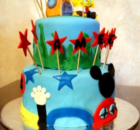 Mickey Mouse 2 Tier Cake ( 1 )