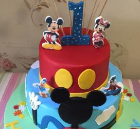 Mickey Mouse 2 Tier Cake ( 2 )