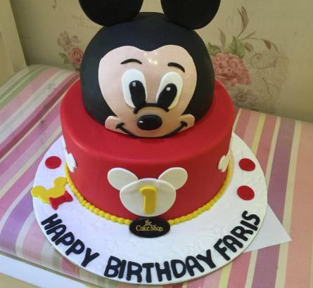 Mickey Mouse 2 Tier Cake ( 3 )