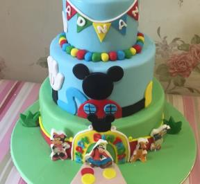 Mickey Mouse 3 Tiers Cake ( 1 )