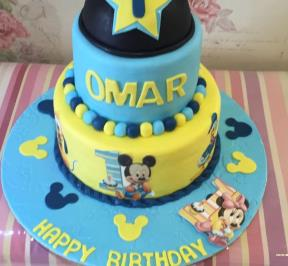 Mickey Mouse 3 Tiers Cake ( 2 )