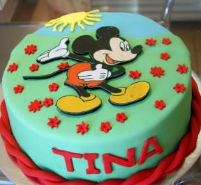 Mickey Mouse Cake ( 3 )