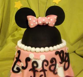 Minnie Mouse 2 Tier Cake ( 1 )