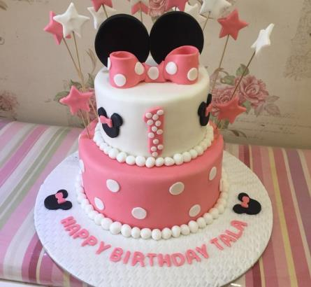 Minnie Mouse 2 Tier Cake 2