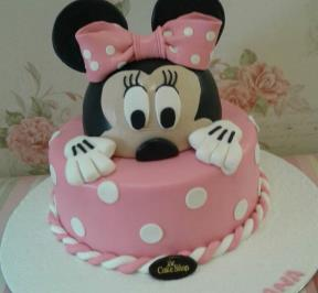 Minnie Mouse 2 Tier Cake ( 3 )
