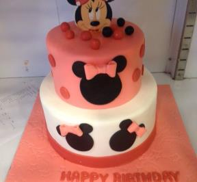 Minnie Mouse 2 Tier Cake ( 5 )