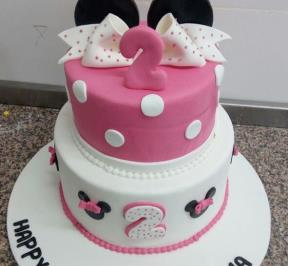 Minnie Mouse 2 Tier Cake ( 6 )