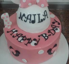 Minnie Mouse 2 Tier Cake ( 8 )