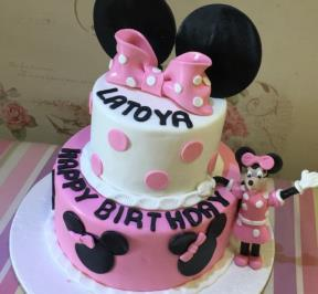 Minnie Mouse 2 Tier Cake ( 9 )