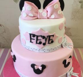 Minnie Mouse 2 Tier Cake ( 10 )
