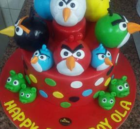 Angry Birds Cake ( 1 )