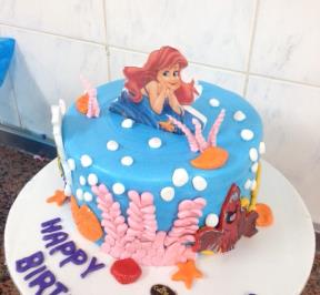Little Mermaid Cake ( 7 )