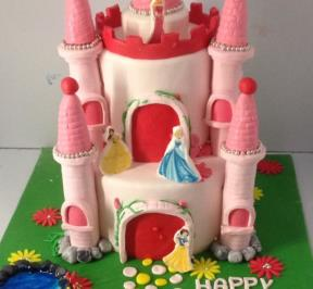 Princess Castle Cake ( 8 )
