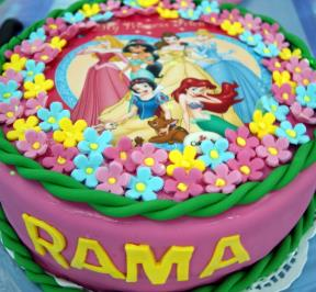Princess Printed Cake ( 1 )
