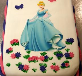 Princess Printed Cake ( 3 )