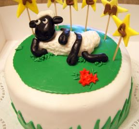 Shaun The Sheep Cake ( 1 )