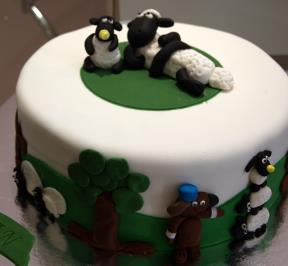 Shaun The Sheep Cake ( 3 )