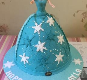Frozen Dress Cake ( 6 )