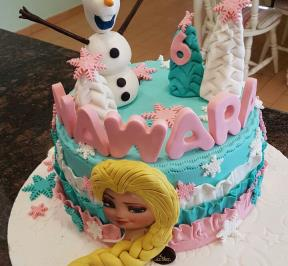 Frozen Hair Cake ( 4 )