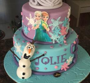 Frozen Themed 2 Tier Cake ( 2 )