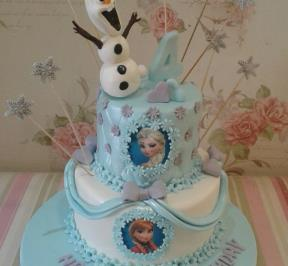 Frozen Themed 2 Tier Cake  ( 3 )