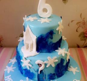 Frozen Themed 2 Tier Cake ( 4 )