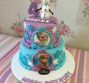 Frozen Themed 2 Tier Cake ( 5 )