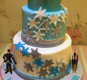 Frozen Themed 2 Tier Cake ( 6 )