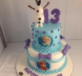 Frozen Themed 2 Tier Cake ( 8 )