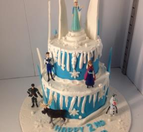 Frozen Themed 2 Tier Cake ( 9 )