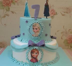 Frozen Themed 2 Tier Cake ( 12 )
