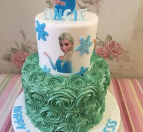 Frozen Themed 2 Tier Cake ( 13 )