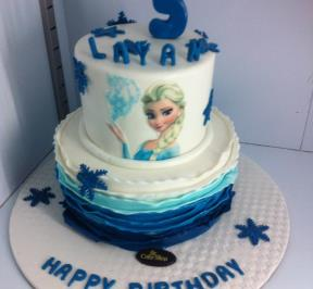 Frozen Themed 2 Tier Cake ( 14 )