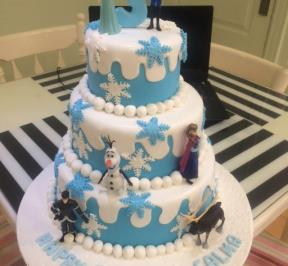 Frozen Themed 3 Tier`s Cake