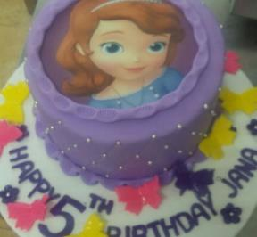 Sofia Themed Cake ( 1 )