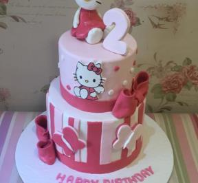 Hello Kitty 2 Tier Cake ( 1 )