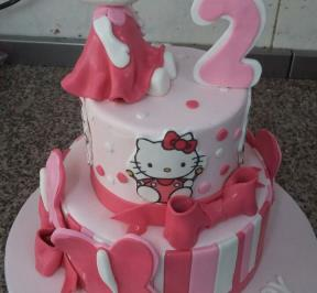 Hello Kitty 2 Tier Cake ( 2 )