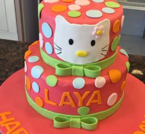 Hello Kitty 2 Tier Cake ( 3 )