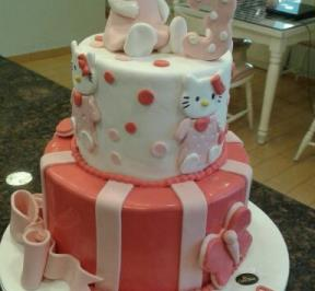 Hello Kitty 2 Tier Cake ( 4 )