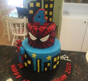 Spiderman Cake (9)