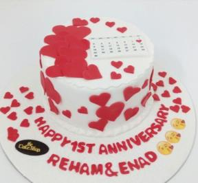 Happy Anniversary  Heart ( 6 )