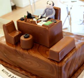 Office Desk Cake