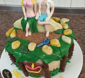 Sweet Couple Cake ( 1 )