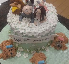 Sweet Couple Cake ( 2 )