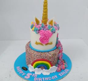 Unicorn 2 Tier Cake ( 2 )