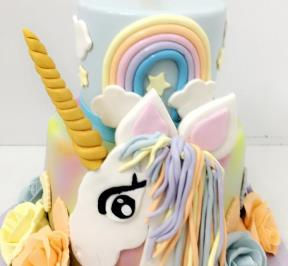Unicorn 2 Tier Cake ( 1 )