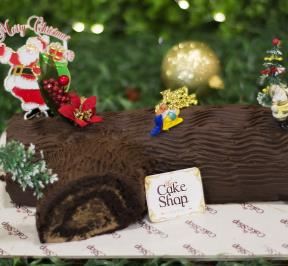 Tree Trunk Christmas Cake