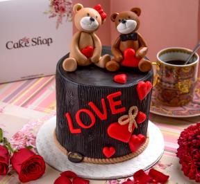 Bears in Love Cake