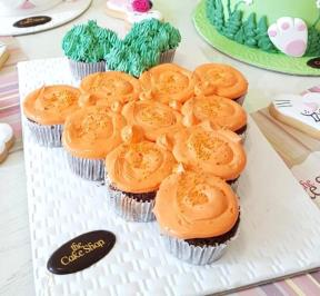 Easter Cupcakes Carrot Shape