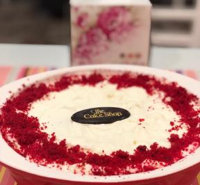 Red Velvet Ice-cream Pie